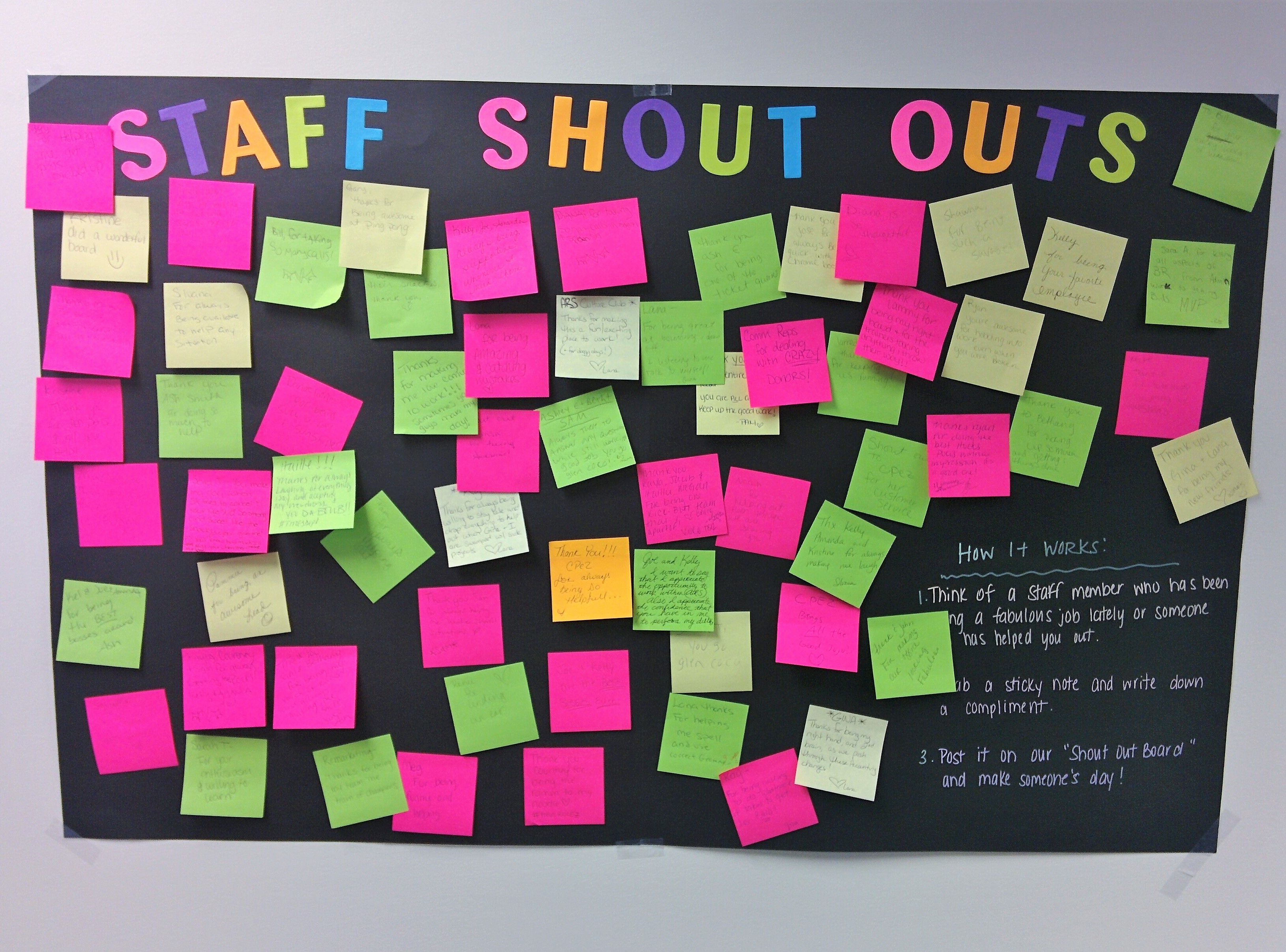Customer Service Week 2017 Shout Out Board