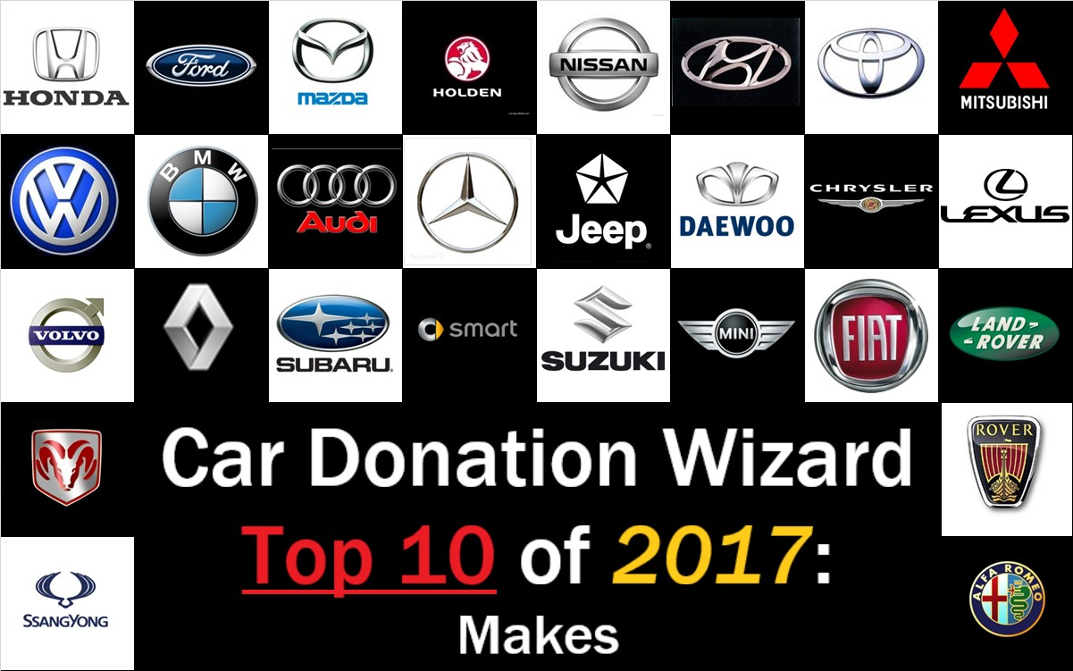 Car Donation Wizard Top 10 Car Brands Donated to Charity in 2017