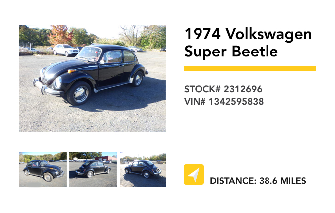 Recently Remarketed 1974 VW Super Beetle
