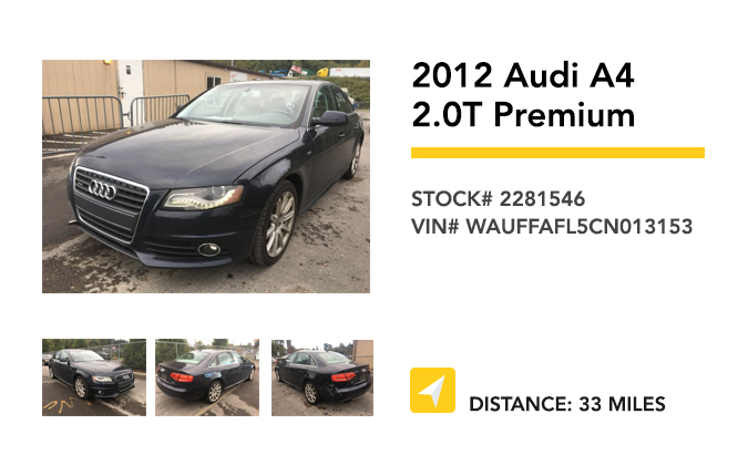 Recently Remarketed 2012-Audi-A4