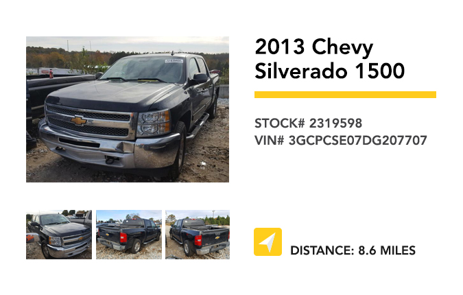 Recently Remarketed 2013 Chevy Silverado