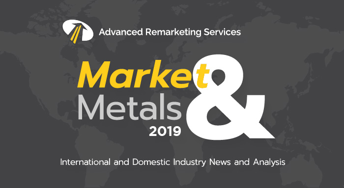 The Scrap Metal Market Update is a blog produced by Advanced Remarketing Services on the scrap steel market, specifically related to crushed auto body prices and other metals related to auto recycling.