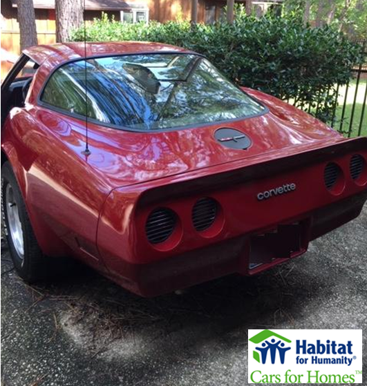 1980 Chevy Corvette Donated to Fayetteville Habitat for Humanity