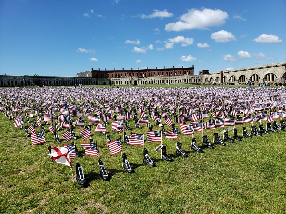 ARS goes to Fort Adams for Boots on the Ground Memorial